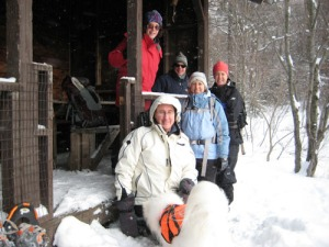 Snowshoe hike on Nebraska Notch trail to Taylor Lodge