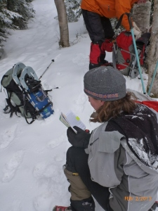 Reading the trail guide--a 1st!!